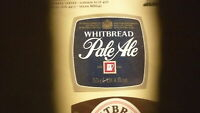 OLD BRITISH BEER LABEL, WHITBREAD BREWERY LONDON ENGLAND, PALE ALE TYPE 2
