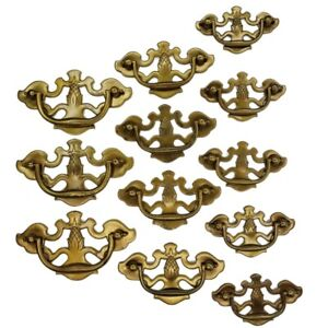 Pineapple Antique Hardware Brass Chippendale 12 Drawer Pulls Handles VTG Salvage