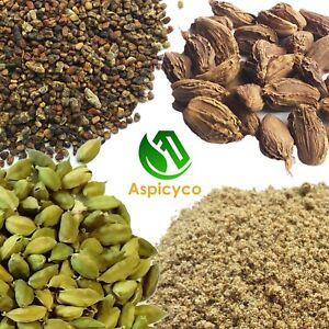 Black Cardamom Pods - Green Cardamom Pods Cardamum Seeds, Cardamon Ground Powder