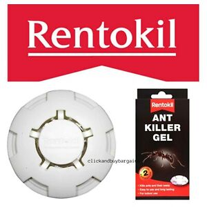 Rentokil Ant & Ant Nest Killer Gel Bait Poison Station Home Indoor Use Twin Pack