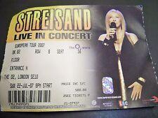 1 Barbara Streisand concert ticket rare London 2007 reduced £10