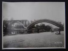 Photo 1946 construction viaduc PONT DE MULHOUSE Nogent sur Marne Le Perreux 5