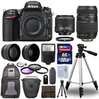 Nikon D750 Digital SLR Camera + 4 Lens Kit: 18-55mm VR + 70-300 mm + 32GB Kit