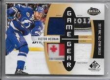 17-18 SP GAME USED GAME GEAR QUAD JERSEY PATCH TAG STRAP VICTOR HEDMAN 6/6