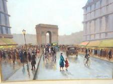 $9500 RARE ORIG FINDLAY ARTIST EARLY ANDRE GISSON ARC DE TRIOMPHE PARIS PAINTING