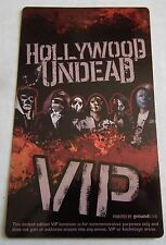 New Hollywood Undead Concert Vip Commemorative Pass