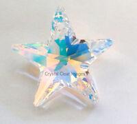 28mm Swarovski Strass AB Aurora Borealis Star Prisms Wholesale Crystal 6714  CCI