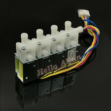 DC 12V 4-Position 3-Way Micro Mini Electric Solenoid Valve N/C for Gas Air Pump