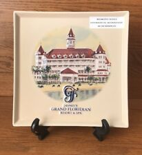 "Grand Floridian Hotel and Spa Decorative Plate Disney 9.5"" X 9.5"" Embossed 3D"