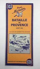 BATAILLE DE PROVENCE AOUT 1944 • WW2 Militaria Réimpr carte historique de 1947