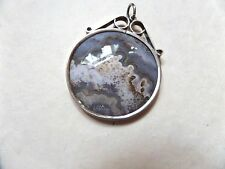 SILVER SCROLL TOP MOUNT WITH CRAZY LACE AGATE ?