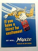 Vintage Moxie Counter Display w/ Guy Parachuting Out of Plane
