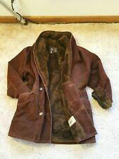 GV Gianni Verace Handmade In Italy Fur Lined Sportswear Coat. Burgundy. Men's XL
