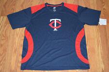 NWT Mens Dynasty MINNESOTA TWINS MLB Navy Red Baseball Shirt Size L Large
