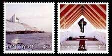 Faroe Islands 1998 Christmas, Nes, Frederick's Church, MNH / UNM