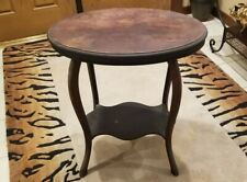 """Antique Wood Accent/End Table Hand-Carved Trim 26"""" wide  & 29"""" high 4 Legs"""