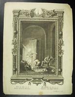 Antigua Cuadro Petrus Liberatus 1731 Heumann El Liberación Milagrosa Piedra