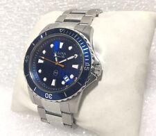 Bulova 98B130, Marine Star - Blue Dial, Stainless Steel Men's Watch (48215)