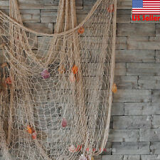 Fishing Net Sea Shell Starfish Hanging Home Wall Decoration Nautical Ocean Theme