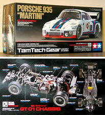TAMIYA RC 1/12 PORSCHE 935 MARTINI TAMTECH ASSEMBLY GT01 CHASSIS NEW KIT NEW BOX