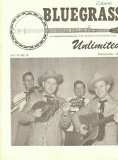 1968 December Bluegrass Unlimited Magazine Back-Issue