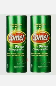 Lot Of 2 Comet Cleanser With Bleach 50% More 21 Oz Scratch Cleaner Free Shipping