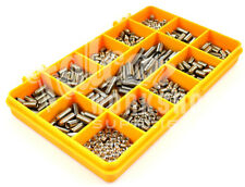 200 ASSORTED STAINLESS M5 GRUB SCREW CUP POINT HEX SET SOCKET CAP SCREWS KIT 04