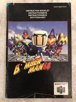 Bomberman 64 Nintendo 64 N64 UK PAL Instruction Booklet Manual Only