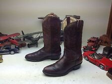 VINTAGE PALOMINO MADE IN USA BROWN LEATHER WESTERN ENGINEER TRAIL BOSS BOOTS 9D