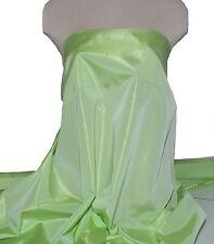 "IRIDESCENT TAFFETA FABRIC SPRING GREEN 60"" BY THE YARD, WEDDING, FORMAL , CRAFTS"