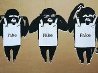 Not Not Banksy Emphatic denial non resurrection signed prototype with COA.