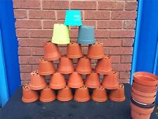"""80 X Plant Pots 11 - 12cm Strong Plastic Round Flower Pot 4.5"""" High Quality Used"""