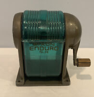 1960's Dixon Enduro No.20 Vintage Heavy Pencil Sharpener with Green Compartment