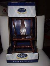 "Nib Collectors Lane1997 Wooden Chair Doll Furniture 13"" Tall"
