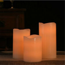 Flameless Candles Battery Operated Pillar LED Candle Waterproof Outdoor Indoor