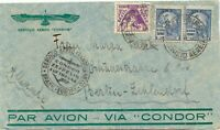BRAZIL 1935 200 R + 2000 R (2x VARIETIES) SAO PAULO to BERLIN Airmail via CONDOR