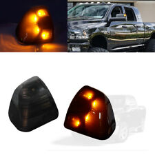 Smoked Amber Led Side Mirror Turn Signal Lights For Dodge Ram 1500 2500 3500 etc
