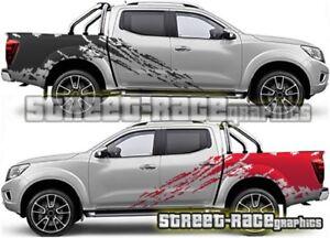Rally 015 Fits Nissan Navara decals vinyl graphics stickers splatter
