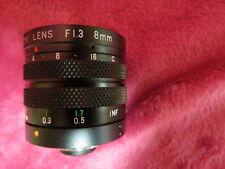 CCTV LENS 8mm / F1.3 WITH IRIS