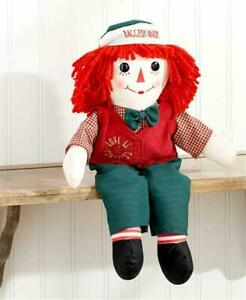 """NOSTALGIC CLASSIC RAGGEDY ANDY 16"""" TALL LOVE IS TIMELESS FABRIC RAG DOLL"""