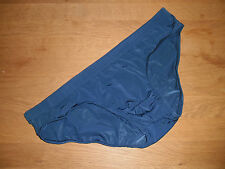 Men's Small Sexy Seamless Blue Nylon Spandex Low Rise Briefs Full Back Gay UK