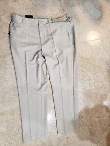 GREG NORMAN MENS KHAKI BEIGE CLASSIC PERFORMANCE GOLF PANTS SLACKS 42X32 NWT