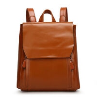 Women's England Genuine Leather Retro Travel Casual Satchel Tote Backpack Bags