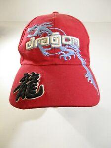 Dragon Cotton Acrylic Baseball Cap Size 58cm Hook Loop Fastener at back.