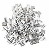 2X(100pzs Manguito de aro de crimpado de aluminio para cable cuerda de alam B7J5