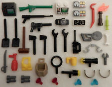 40 NEW LEGO ACCESSORY LOT minifig weapon parts tools minifigure accessories guns