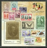 Malaysia 2019 150 years of Sarawak Stamp-on-stamp theme Minisheet MNH