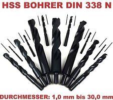 Bohrer HSS Spiralbohrer 1-30mm Metallbohrer Stahlbohrer mit reduziertem Schaft
