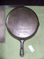 Wagner Ware Unmarked Cast Iron Skillet # 8, 10-1/2 Inch, Made in USA ((#223))