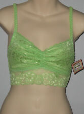 New WHITE SAKI Size M Apple Green Lace Bralette Bra